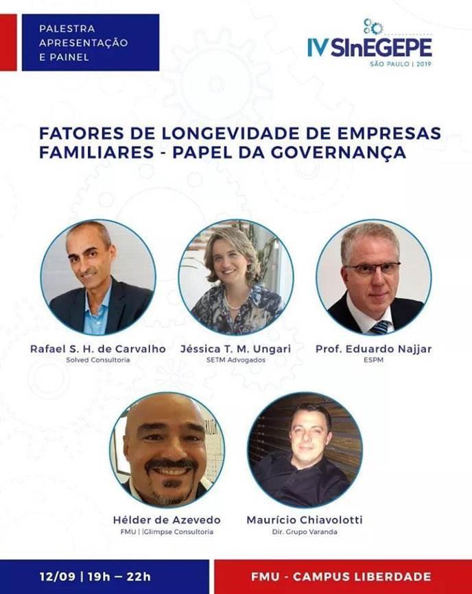 Governança e Inovação: Tema do IV SInEGEPE12 e 13 de Setembro – Participe